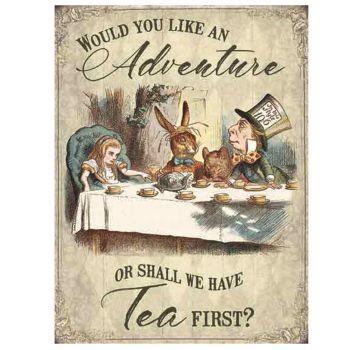 Kilpi - Alice in Wonderland - Shall we have tea first