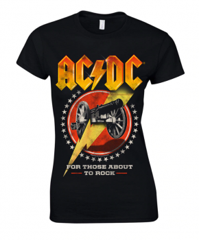 NAISTEN T-PAITA - FOR THOSE ABOUT TO ROCK NEW - AC/DC (LF8511)