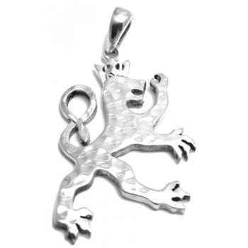 Lady Lion - Korusetti hopeaa - riipus + 2mm hopeinen ketju