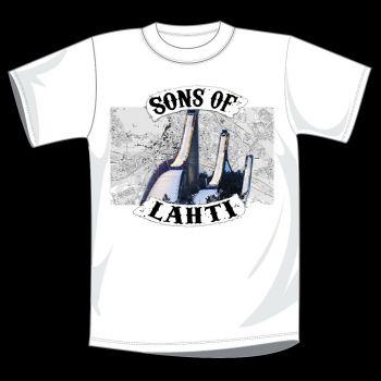 T-PAITA VALKOINEN - SONS OF LAHTI kartta