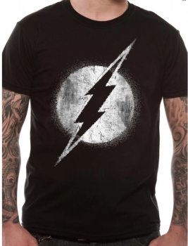 T-PAITA - THE FLASH - LOGO MONO DISTRESSED (LF8492)