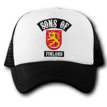 Verkkoperälippis - SONS OF FINLAND LEIJONA