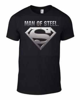 T-PAITA - MAN OF STEEL SILVER LOGO (LF8140)