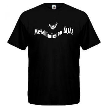 T-PAITA musta -  Metallimies on Äijä!