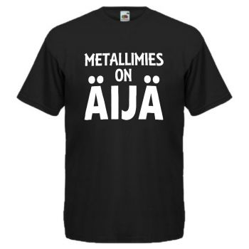 T-PAITA - METALLIMIES - MUSTA