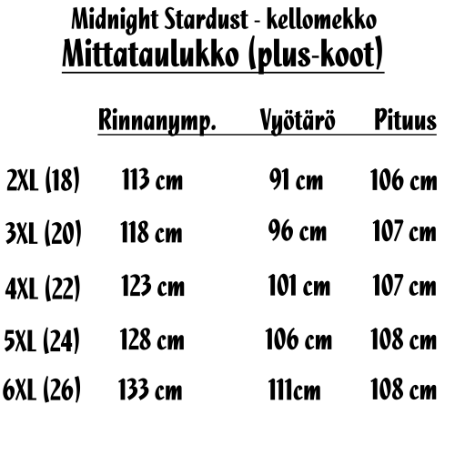 KELLOMEKKO SUURET KOOT - Midnight Stardust Swing Dress