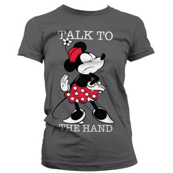 NAISTEN PAITA HARMAA - MINNIE MOUSE - TALK TO THE HAND