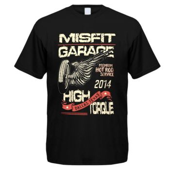 T-PAITA musta - Misfit Garage - High Torque