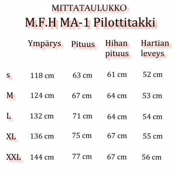 MA-1 PILOTTITAKKI - LUCKY 7 (598)