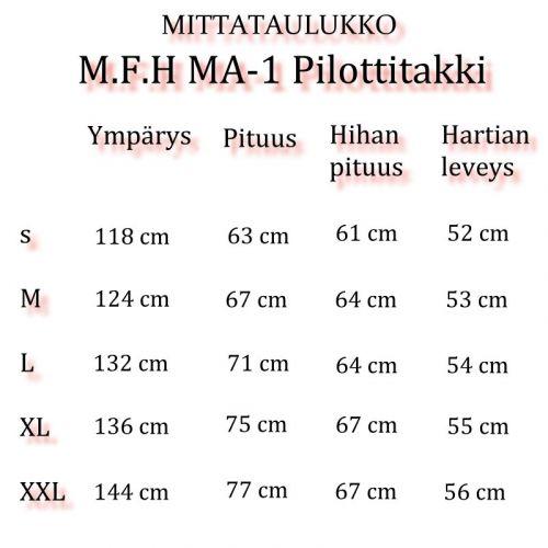 MA-1 PILOTTITAKKI - RESPECT IS EARNED (846)