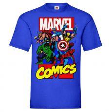 T-PAITA SININEN - MARVEL COMICS HEROES