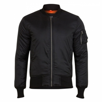 BASIC BOMBER JACKET - BLACK