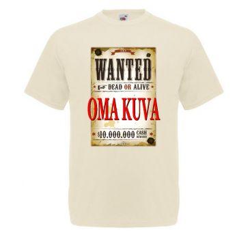 T-paita - Omalla WANTED painatuksella