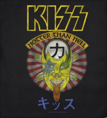 JUMBO PATCH - HOTTER THAN HELL - KISS (LF7117)