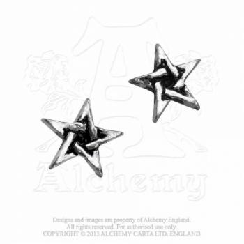 KORVAKORU - PENTAGRAM STUDS - ALCHEMY (E164)