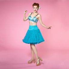 TYLLI - Nylon Fluffy turquoise - DOLLY AND DOTTY