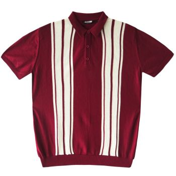 MIESTEN NEULEPAITA - POLO SHIRT BURGUNDY - CRK LONDON
