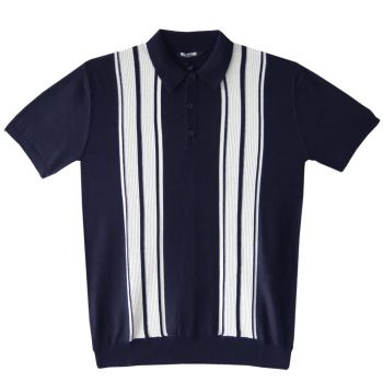 MIESTEN NEULEPAITA - POLO SHIRT NAVY - CRK LONDON