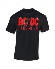 T-PAITA - PLUG ME IN RED LOGO - AC/DC (LF8180)