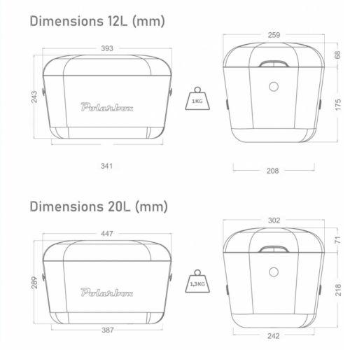 Kylmälaukku - POLARBOX 12L KELTAINEN CLASSIC