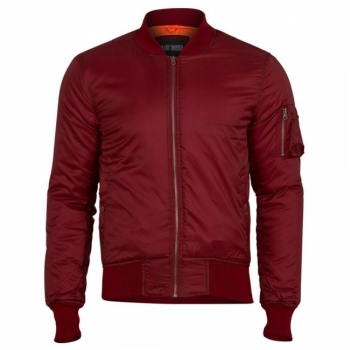BASIC BOMBER JACKET - BORDEAUX