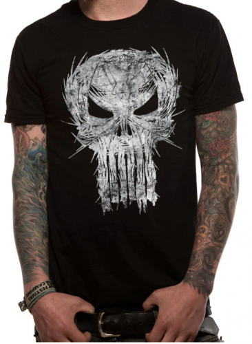 T-PAITA - PUNISHER - SHATTER SKULL (LF8405)