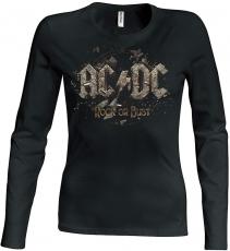 PITKÄHIHAINEN T-PAITA - ROCK OR BUST GIRLIE - AC/DC (LF8166)