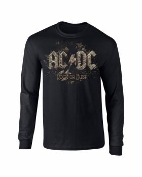 PITKÄHIHAINEN T-PAITA - ROCK OR BUST - AC/DC (LF8176)
