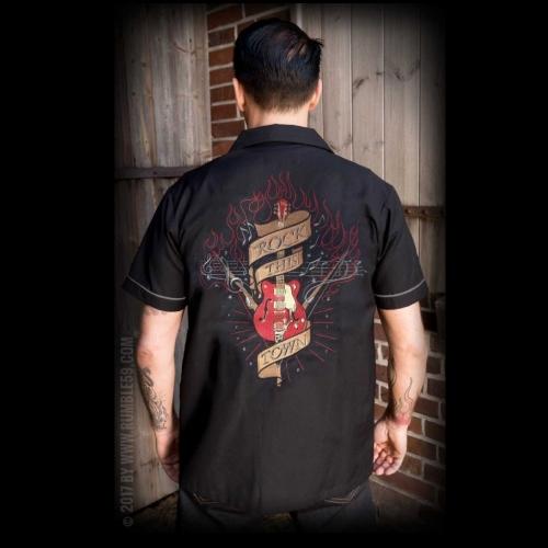 KAULUSPAITA - Lounge Shirt Rock this town