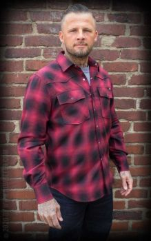 FLANELLIPAITA - Shadow Plaid Shirt, red/black