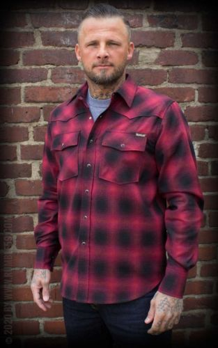 FLANELLIPAITA - Shadow Plaid Shirt, red/black