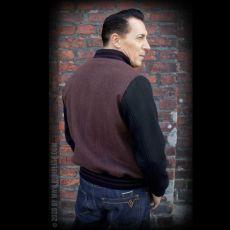 RUMBLE59 - Baseball Jacket - Portland - Herringbone brown/black