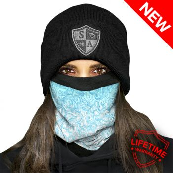FLEECE PUFF HUIVI - TIDAL WAVE FLEECE FACE SHIELD