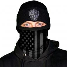 FLEECE PUFF HUIVI -  BLACKOUT AMERICAN FLAG
