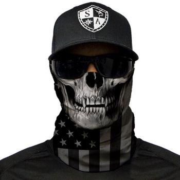 PUFF HUIVI - BLACKOUT AMERICAN FLAG SKULL