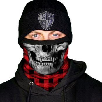 FLEECE PUFF HUIVI - RED SKULL FLEECE