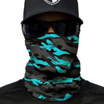 PUFF HUIVI - AQUA MILITARY BLACKOUT CAMO