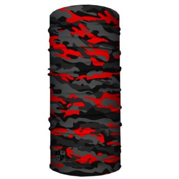 PUFF HUIVI - FIRE RED MILITARY BLACKOUT CAMO