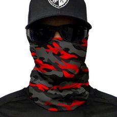 PUFF HUIVI - FIRE RED MILITARY BLACKOUT CAMO