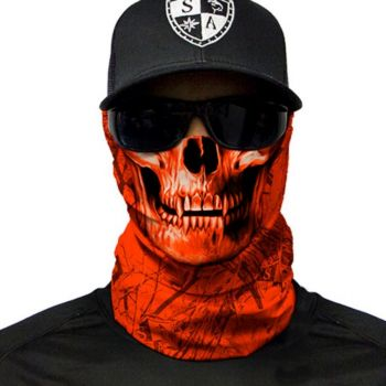 PUFF HUIVI - FOREST CAMO | HIGH VIS ORANGE | SKULL