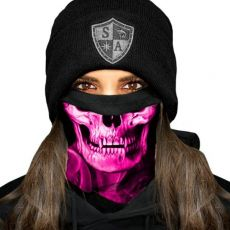 FLEECE PUFF HUIVI - SKULL TECH | PINK CROW FLEECE LINED FACE SHIELD