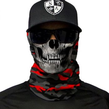 PUFF HUIVI - FIRE RED MILITARY BLACKOUT CAMO | SKULL