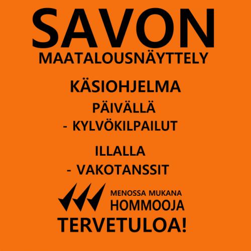 """T-PAITA - SAVOLAISEN """"HANKKIJA""""  HOMMOOJA SELKÄPAINATUKSELLA oranssi"""