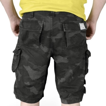 SHORTSIT - TROOPER SHORTS BLACKCAMO WASHED - SURPLUS