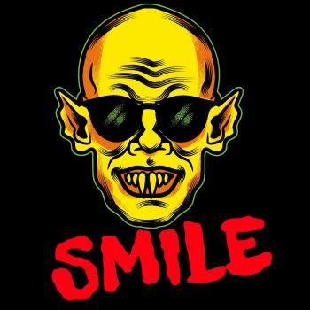 T-PAITA musta - SMILE