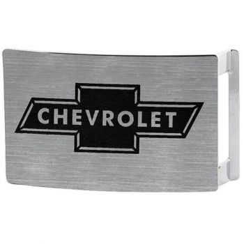 VYÖNSOLKI - CHEVY BOWTIE BRUSHED SILVER/BLACK