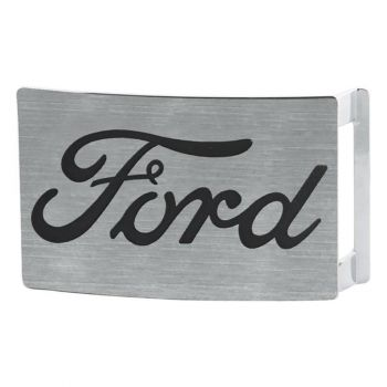 VYÖNSOLKI - FORD SCRIPT BUCKLE  BRUSHED SILVER BLACK