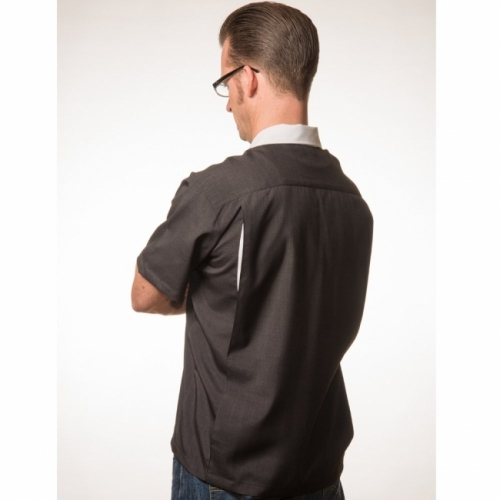 ISOT KOOT - KAULUSPAITA - PopCheck Classic Bowler Button Up in Black/White - STEADY CLOTHING