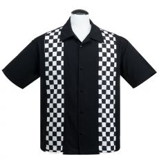 KAULUSPAITA - V8 Checkered Mini Panel in Black/White - STEADY CLOTHING