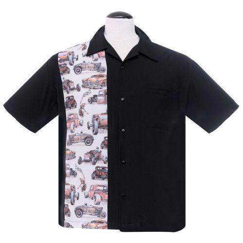 KAULUSPAITA - Dragstripe Single Panel in Black - STEADY CLOTHING